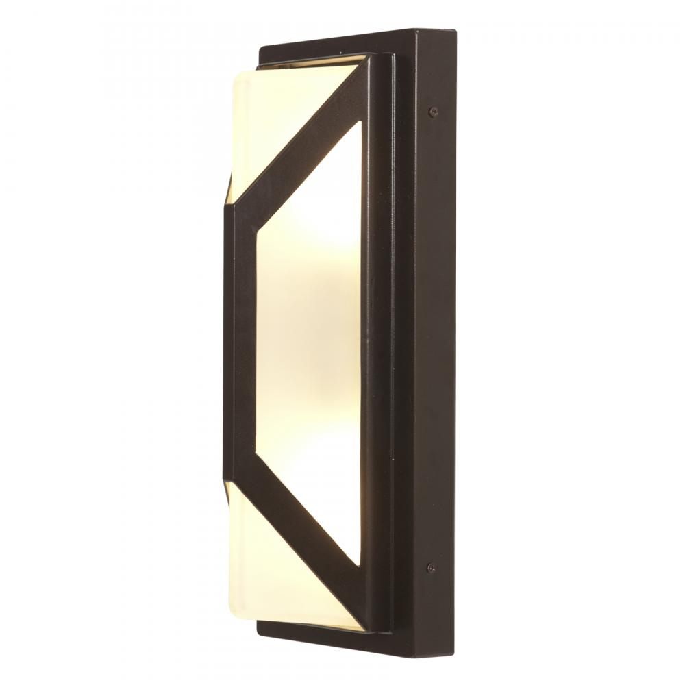 Wall Sconces For Damp Locations : Access Frosted 2 Light Ambient Lighting Marine Grade Wet Location Outdoor Wall Sconce Bronze ...