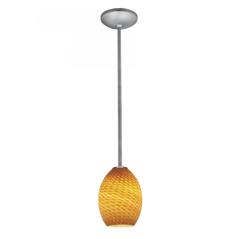 Access Amber Sky Julia 1 Light Energy Star Brushed Steel