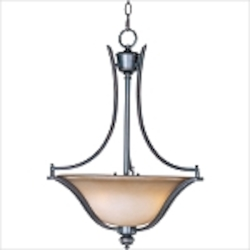 "Madera Collection 3-Light 25"" Oil Rubbed Bronze Pendant with Wilshire Glass Shade 10173WSOI"