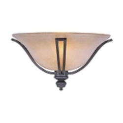 "Madera Collection 1-Light 17"" Oil Rubbed Bronze Wall Sconce with Wilshire Glass Shade 10179WSOI"