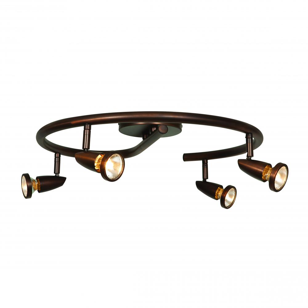 Access Bronze Mirage 4 Light Semi Flush Ceiling Spot Light