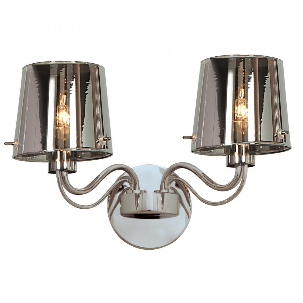 Wall Sconce Lighting Design : Access Chrome / Chrome Milano 2 Light Wall Sconce Chrome 55531-CH/CHR From Milano Collection