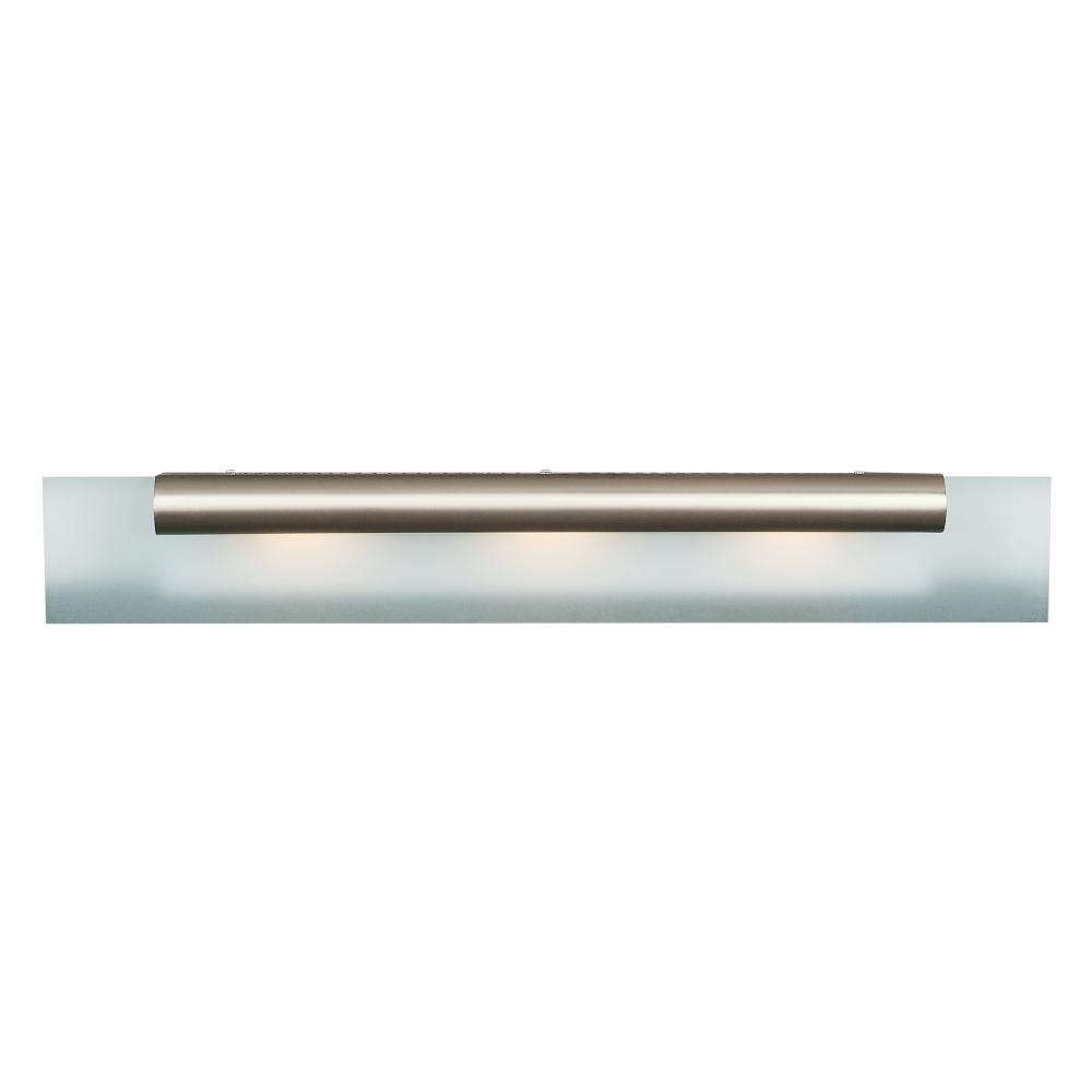 Access Frosted Three Light Down Lighting 36 Wide Bathroom Fixture From Roto Collection Chrome