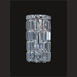 "Ibiza Design 2-Light 12"" Chrome Wall Sconce Bathroom Vanity Light Fixture with European or Swarovski Crystal SKU# 10305"