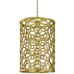 "Regatta Collection 12-Light 37"" Stained Silver Leaf Entry Pendant with Genuine Smoked Capiz Shell Mosaic 104-712"