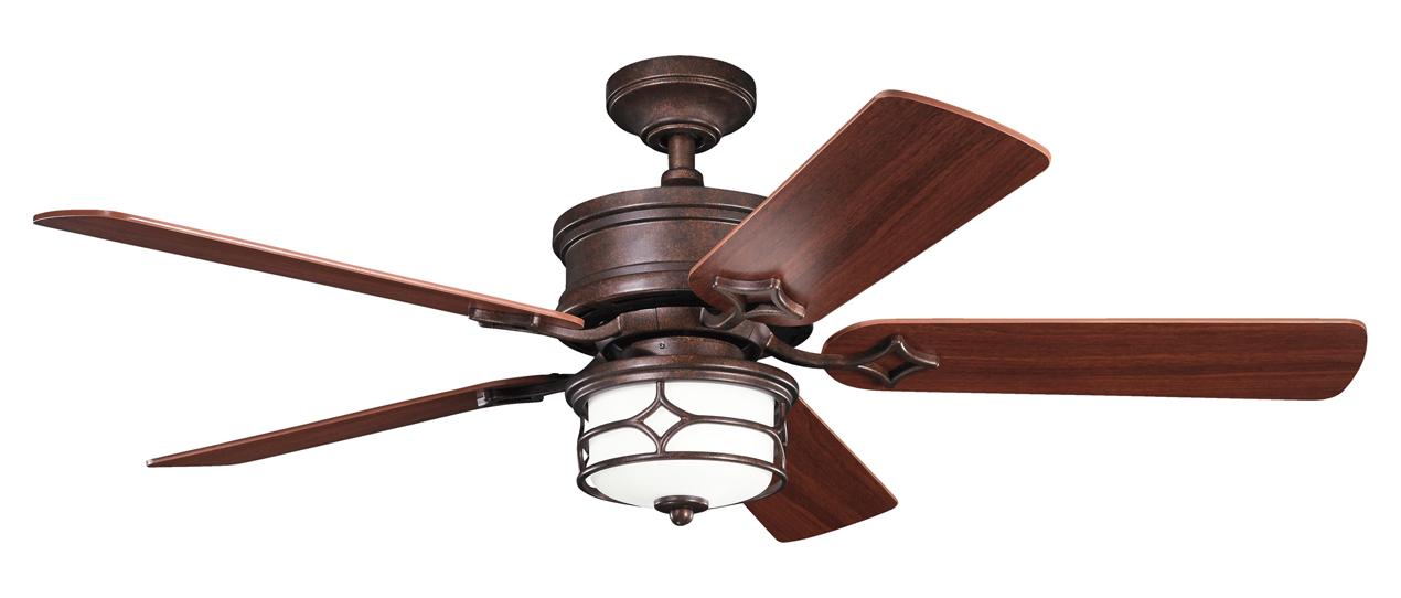 Gold Ceiling Fan : Kichler tannery bronze w gold accent ceiling fan