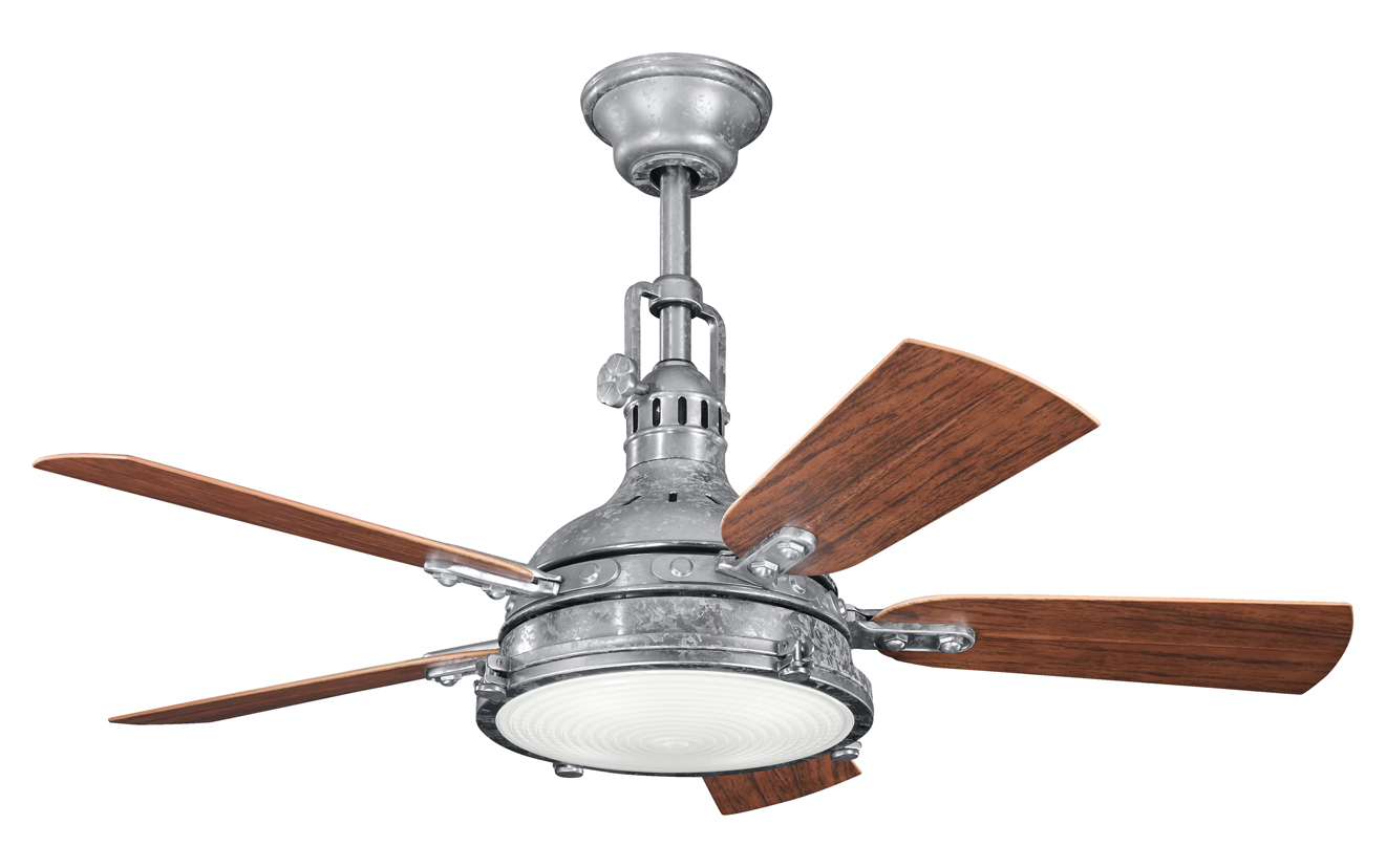 Kichler Kichler 310101gst Galvanized Steel 44 Quot Outdoor Ceiling Fan With 5 Blades Galvanized