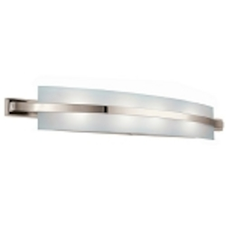 "Freeport Energy Star 4-Light 36"" Polished Nickel Bath Fixture with Etched Linear Glass 10688PN"