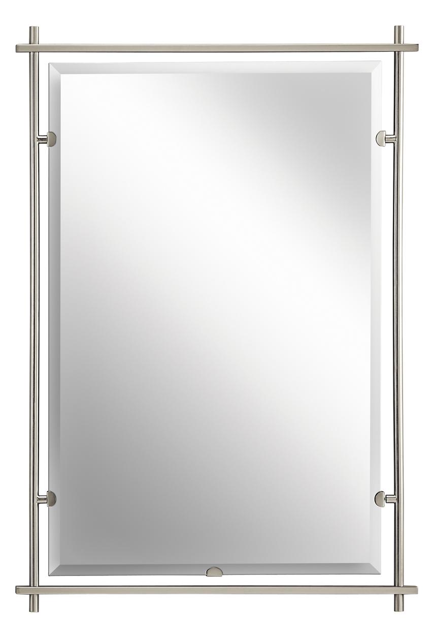 Kichler Brushed Nickel Eileen Rectangle Beveled Framed Mirror Brushed Nickel 41096ni From Eileen