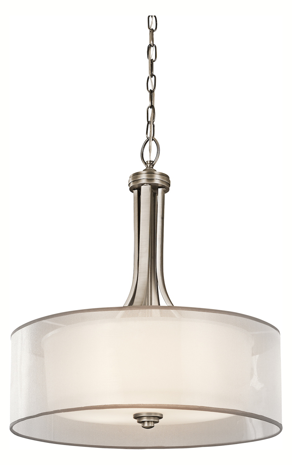 Drum Shaped Pendant Lighting : Kichler antique pewter lacey bulb indoor pendant with