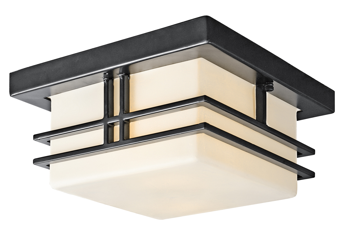 Kichler Black Painted Fluorescent 2 Light Outdoor