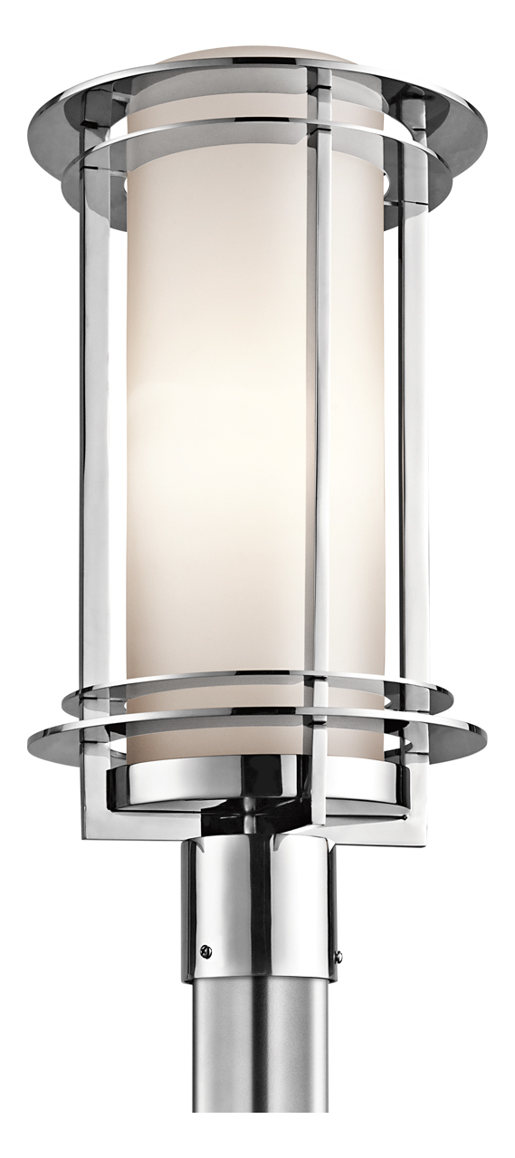Kichler Polished Stainless Steel Marine Grade Outdoor Post Light Polished Sta
