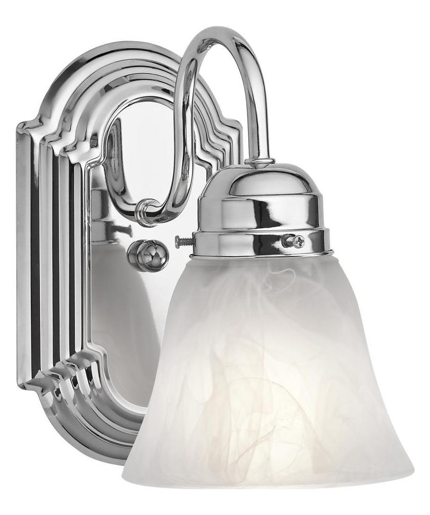 Bathroom Sconces Chrome: Kichler One Light Chrome Bathroom Sconce Chrome 5334CH