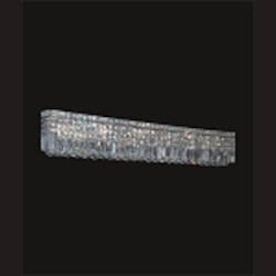 "Ibiza Design 10-Light Rectangular 44"" Chrome Bath Vanity Fixture with 30% Lead Crystal SKU# 11084"