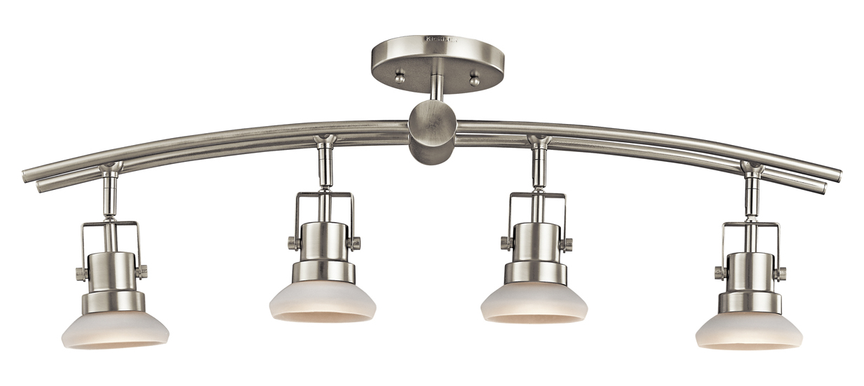 Progress Lighting Lucky Collection 4 Light Brushed Nickel: Kichler Brushed Nickel Structures 4 Light Semi-Flush