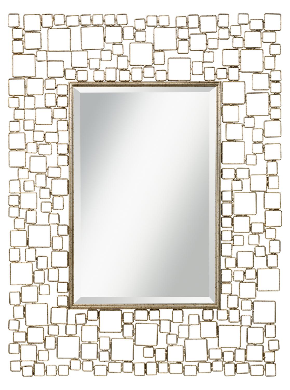 Kichler kichler 78211 antique silver kubica rectangular for Mirror 48 x 36