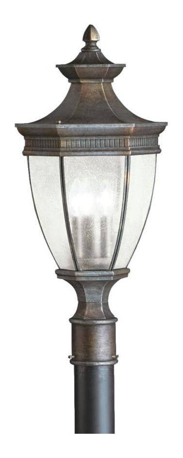 Kichler Tannery Bronze 3 Light Outdoor Post Light From The