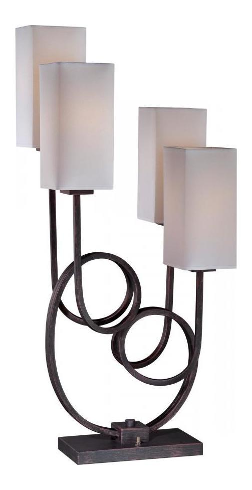 Lite Source Inc Bronze White Taisiya 1 Light Table Lamp