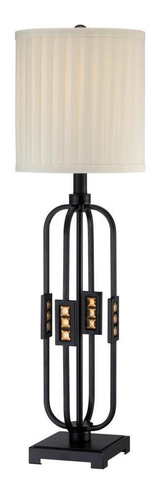 Lite Source Inc Topaz 1 Light Table Lamp Black Ls 22165