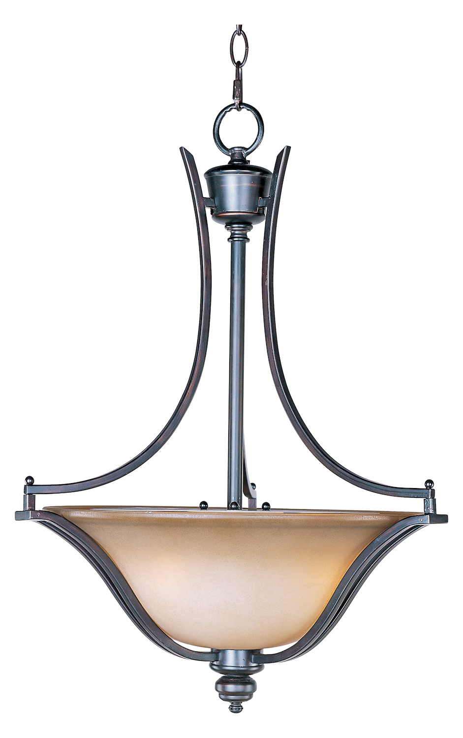 Maxim Three Light Oil Rubbed Bronze Wilshire Glass Up
