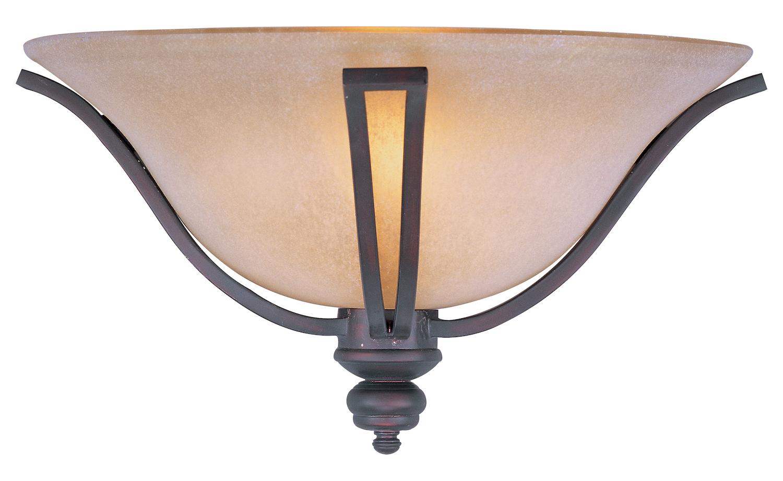 Bronze Glass Wall Lights : Maxim One Light Oil Rubbed Bronze Wilshire Glass Wall Light Oil Rubbed Bronze 10179WSOI From ...