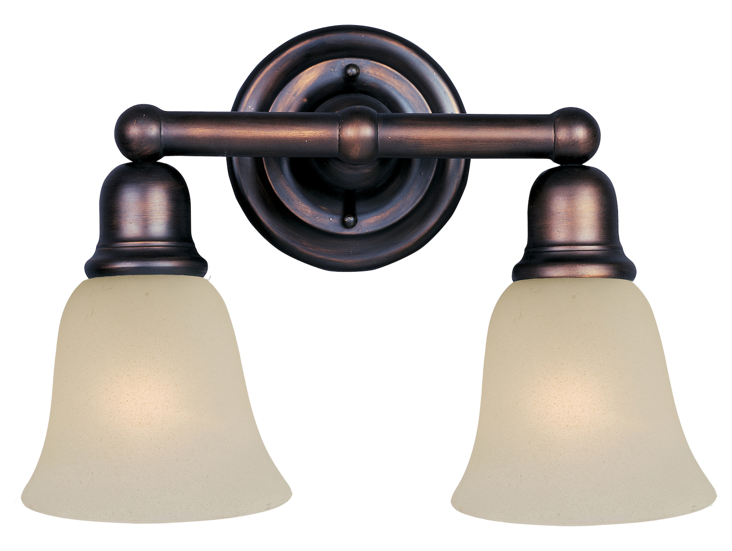 Bronze Vanity Lights With Clear Glass : Maxim Two Light Oil Rubbed Bronze Soft Vanilla Glass Vanity Oil Rubbed Bronze 11087SVOI From Bel ...