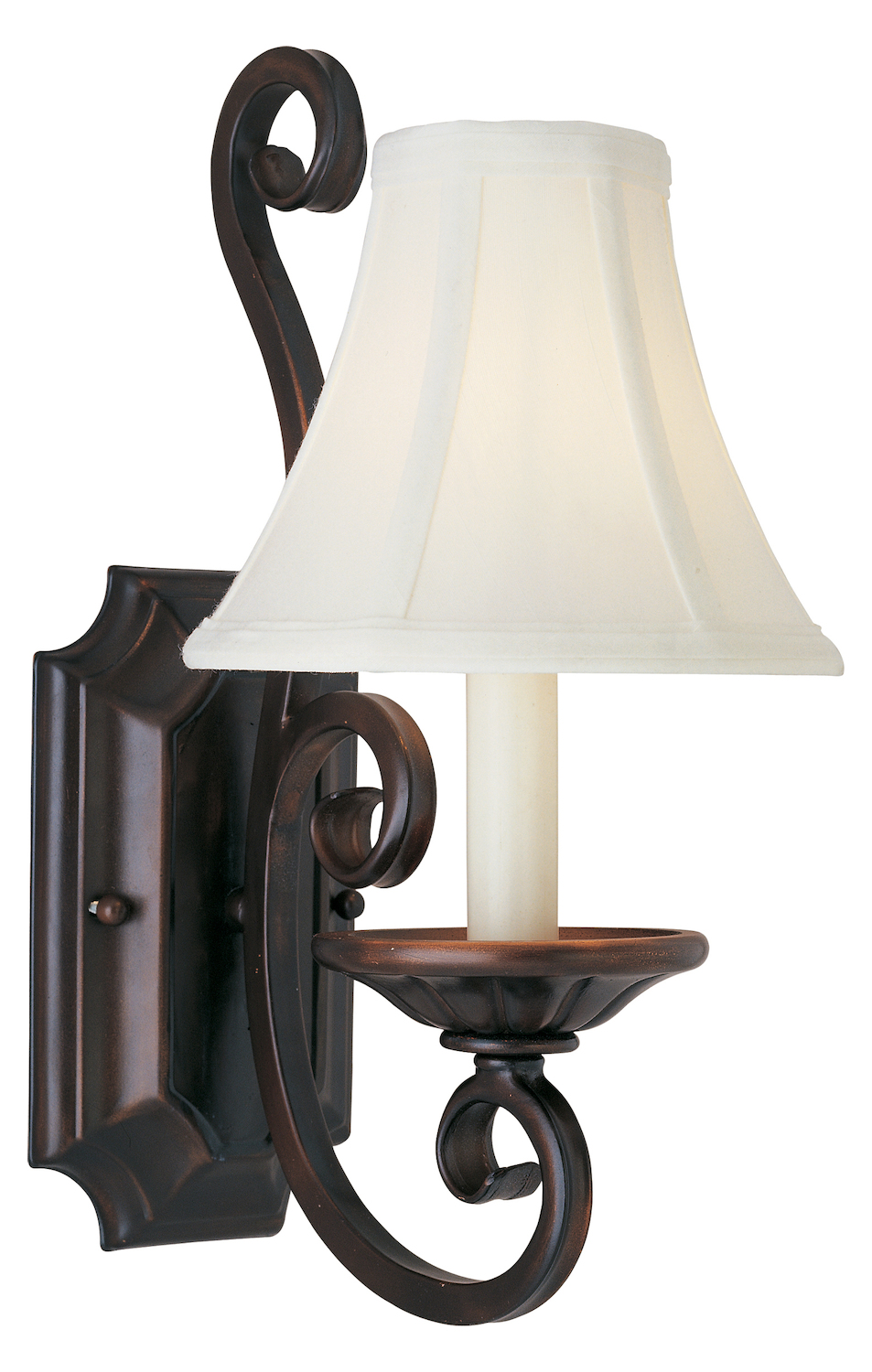 Maxim One Light Oil Rubbed Bronze Wall Light Oil Rubbed Bronze 12217OI/SHD123 From Manor Collection