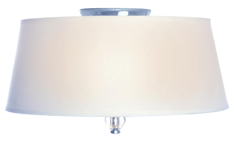 Maxim Three Light Polished Nickel Drum Shade Flush Mount