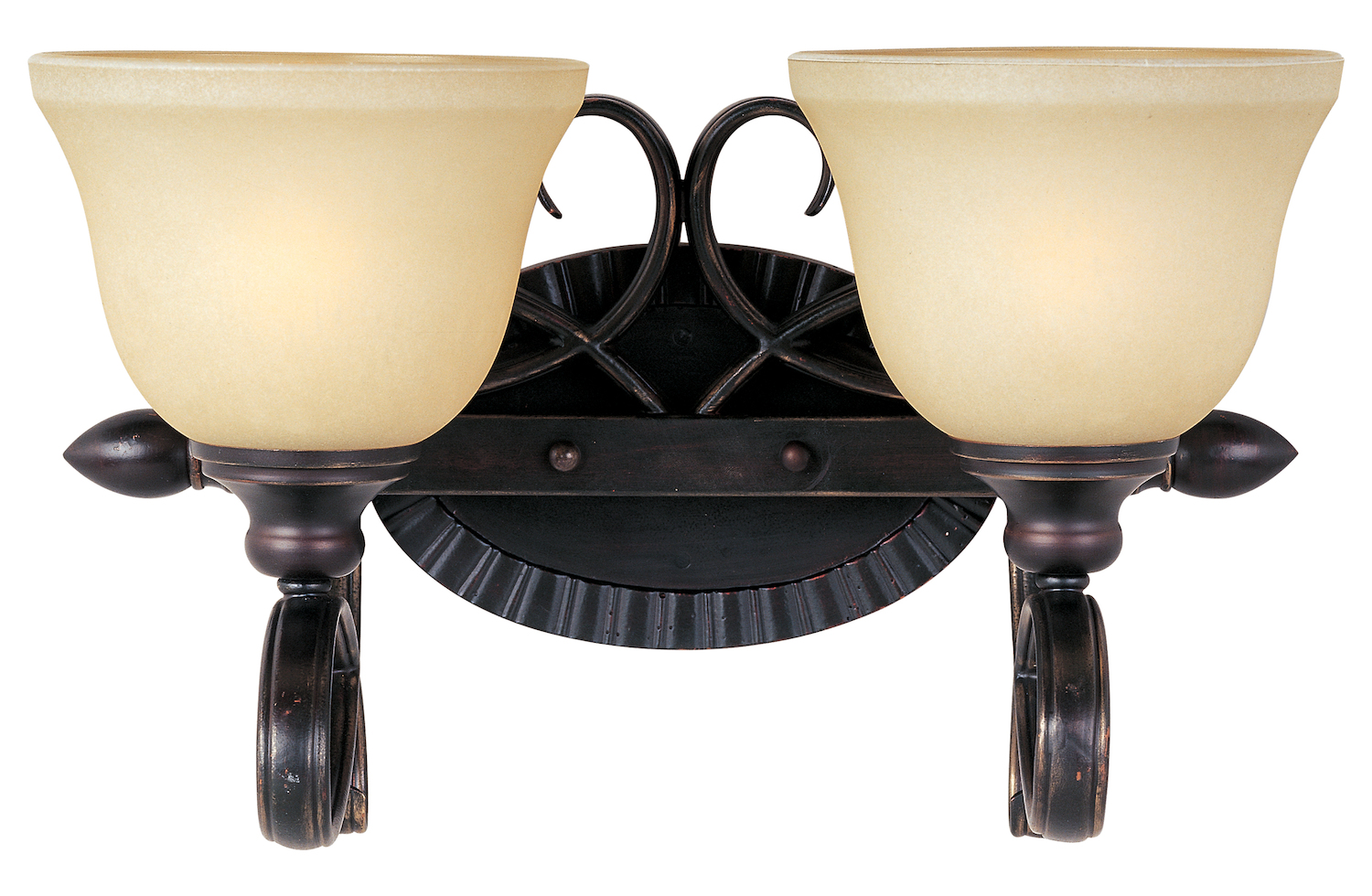 Bronze Vanity Lights With Clear Glass : Maxim Two Light Oil Rubbed Bronze Wilshire Glass Vanity Oil Rubbed Bronze 21312WSOI From ...