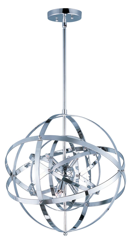 Maxim Sputnik Single Pendant Polished Chrome 25130pc From