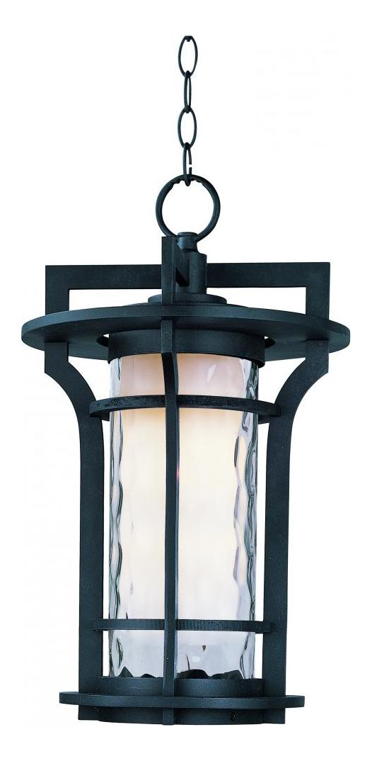 Maxim One Light Water Glass Glass Black Oxide Hanging