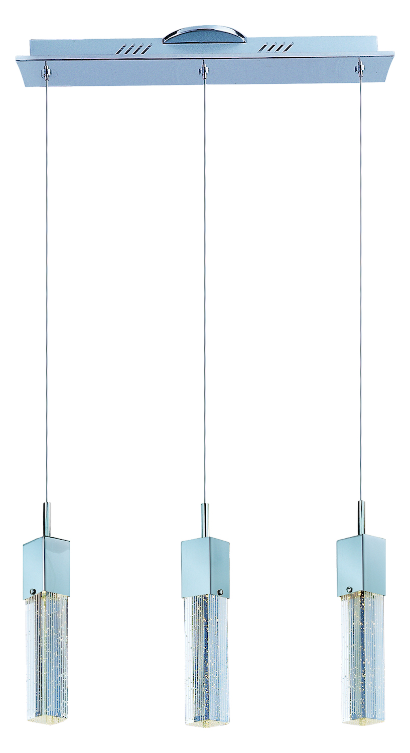 ET2 Fizz Iii 3 Light Led Pendant Polished Chrome E22763 89PC From Fizz Iii Co