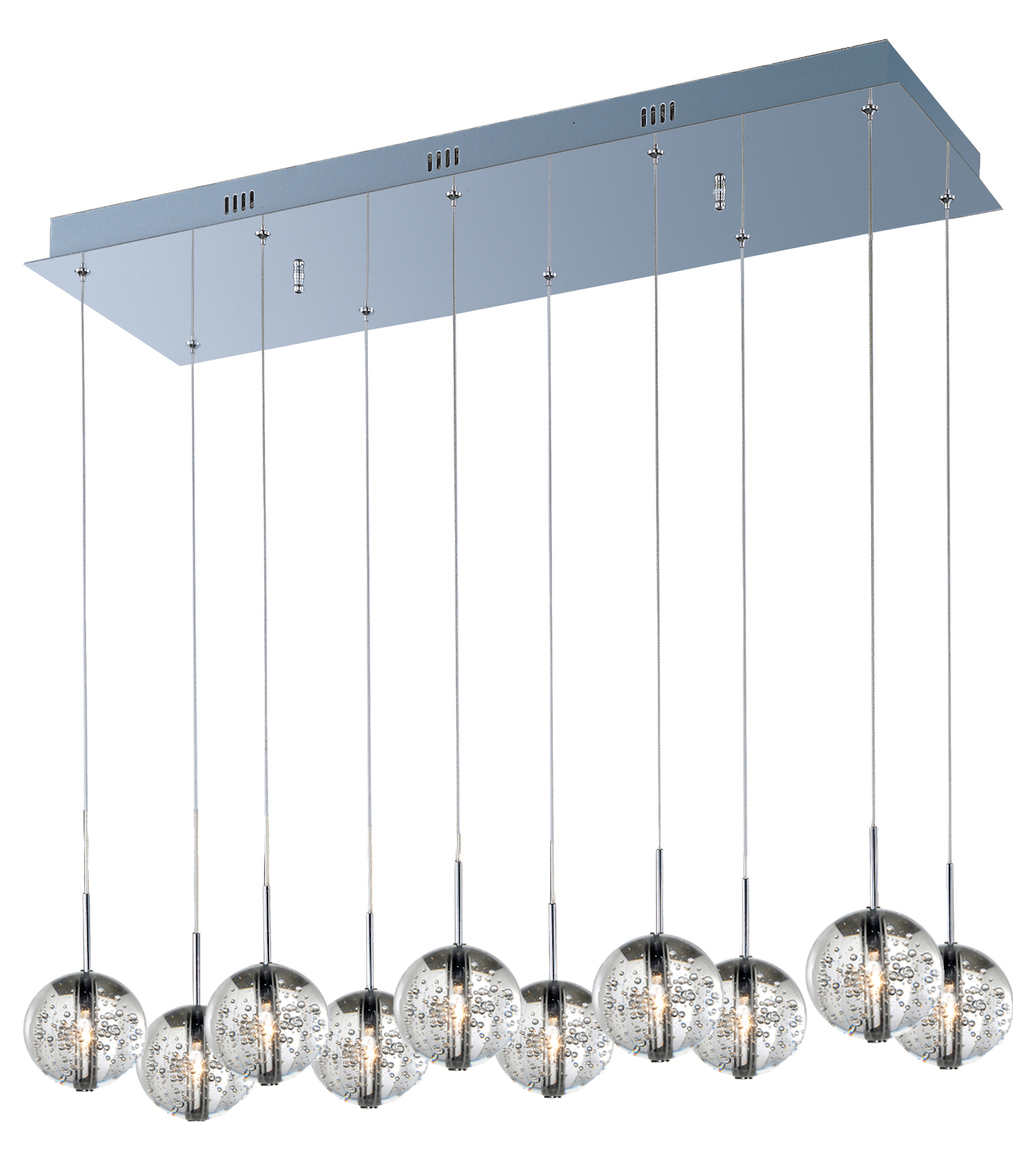 Et2 Orb 10 Light Pendant Polished Chrome E24256 91pc From