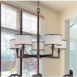 "Nexus Collection 5-Light 22"" Oil Rubbed Bronze Chandelier 12055WTOI"