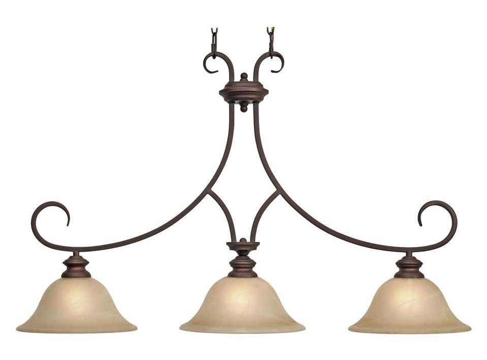 Lancaster Light Chandelier Pewter With Marbled Glass