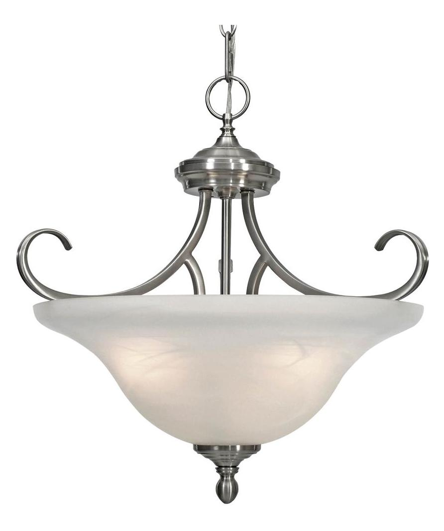Golden Pewter 3 Light Semi Flush Mount Fixture From The