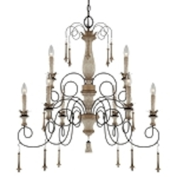 "Accents Provence Collection 9-Light 34"" Provence Patina Chandelier 1239-580"