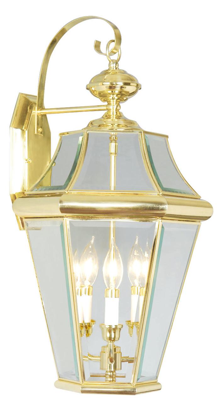 Livex Lighting Polished Brass Wall Lantern Polished Brass