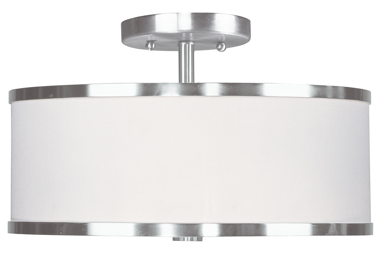livex lighting brushed nickel park ridge 2 light semi. Black Bedroom Furniture Sets. Home Design Ideas