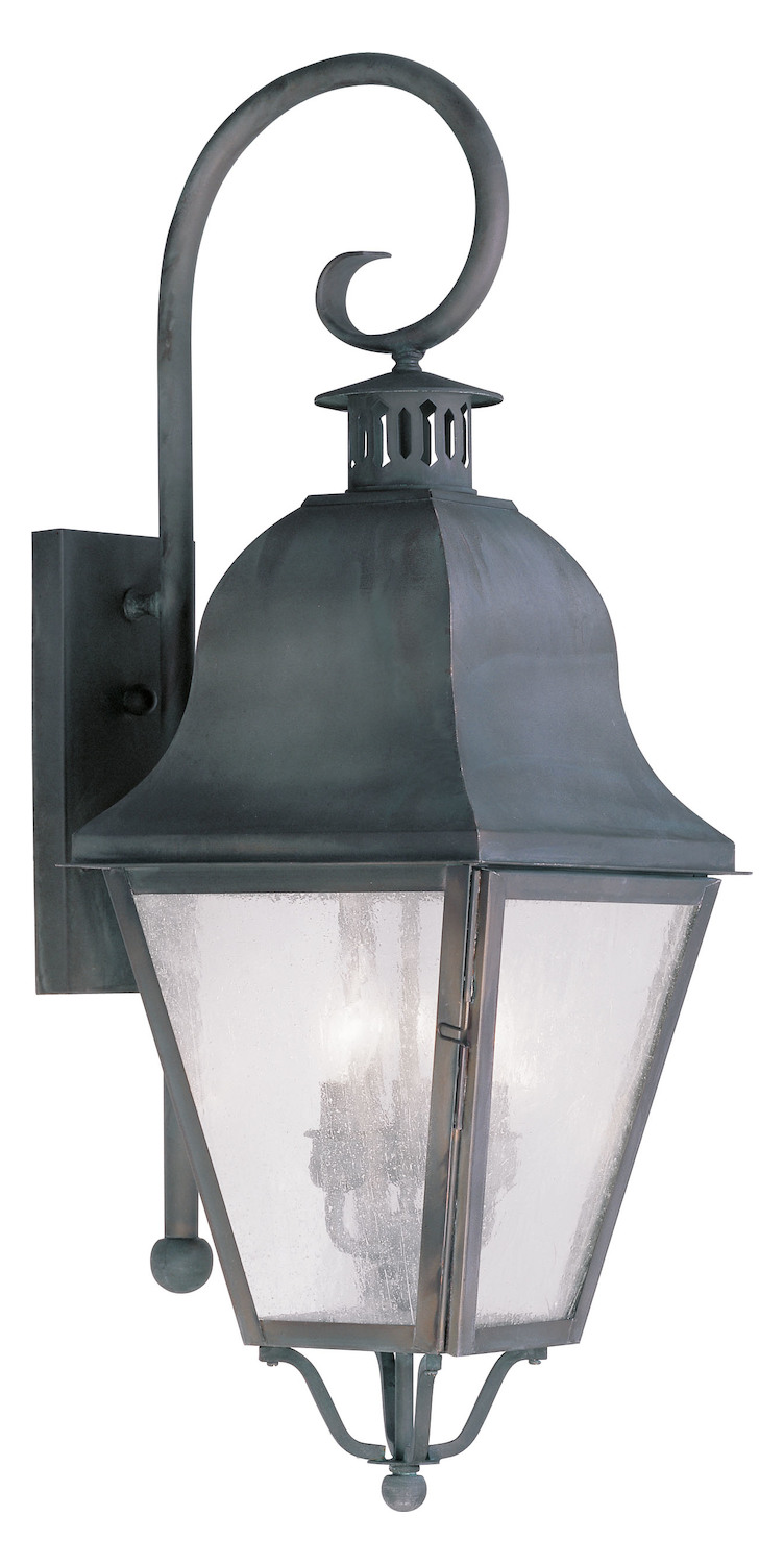 Charcoal Grey Wall Lights : Livex Lighting Charcoal Wall Lantern Gray 2555-61 From Amwell Collection