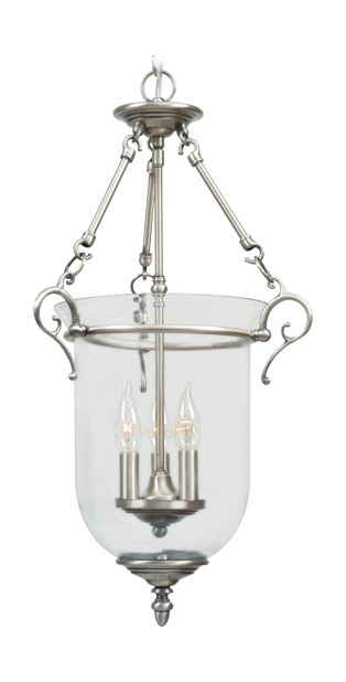 Foyer Pendant Lighting Brushed Nickel : Livex lighting brushed nickel foyer hall pendant