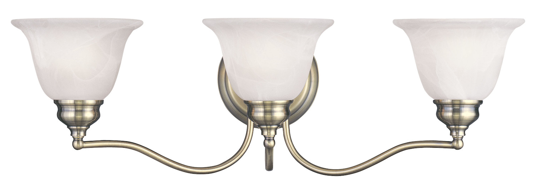 Livex Lighting Antique Brass Essex Bathroom Vanity Bar