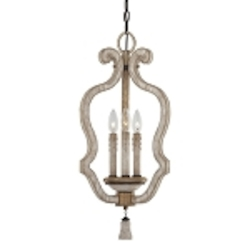 "Accents Provence Collection 3-Light 25"" Provence Patina Mini Pendant 1296-580"