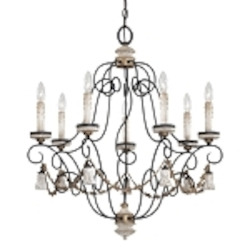 "Accents Provence Collection 7-Light 30"" Provence Patina Chandelier 1297-580"