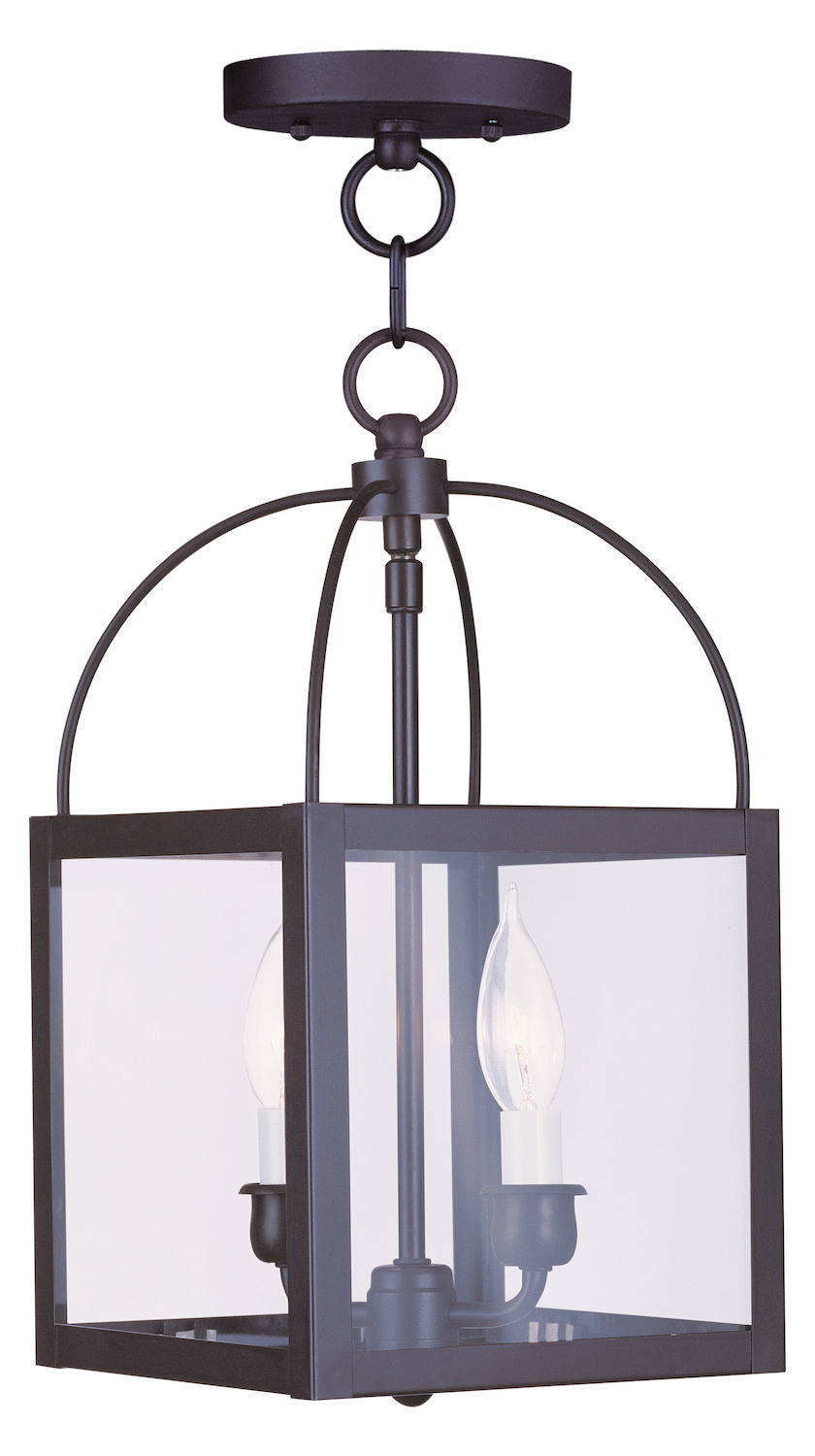 Foyer Semi Flush Mount Lighting : Livex lighting bronze foyer hall semi flush mount
