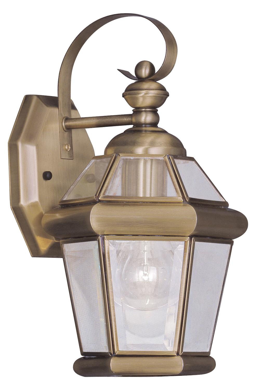 Livex Lighting Antique Brass Wall Lantern Antique Brass