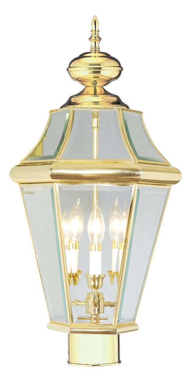 Livex Lighting Polished Brass Post Light Polished Brass