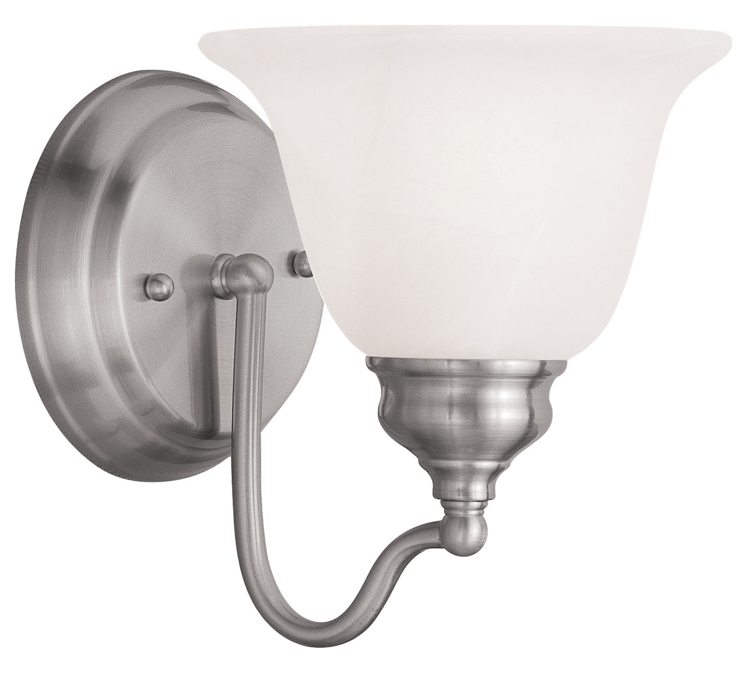Livex Lighting Brushed Nickel Bathroom Sconce Brushed Nickel 1351 91 From Essex Collection