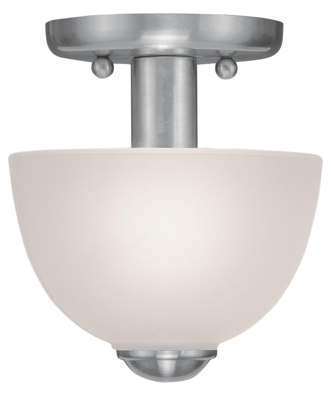 Livex Lighting Brushed Nickel 1 Light 100 Watt Ceiling