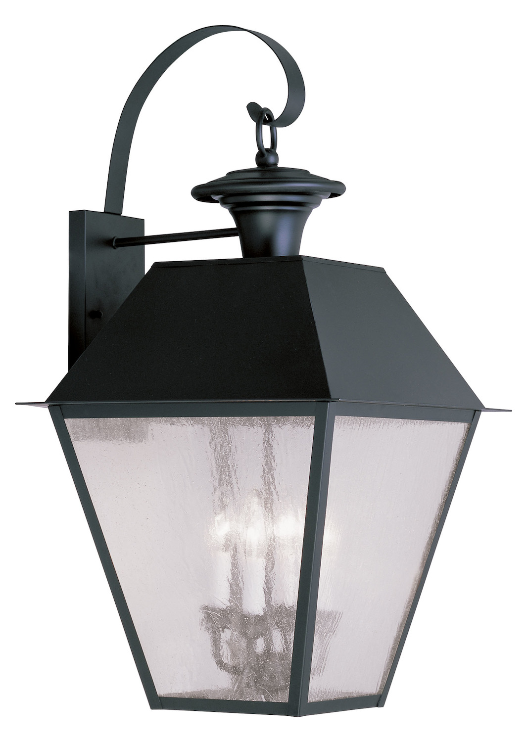 Livex Lighting Black Mansfield Large Outdoor Wall Sconce